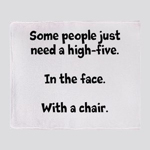High-five chair Throw Blanket