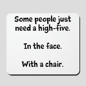 High-five chair Mousepad