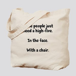 High-five chair Tote Bag