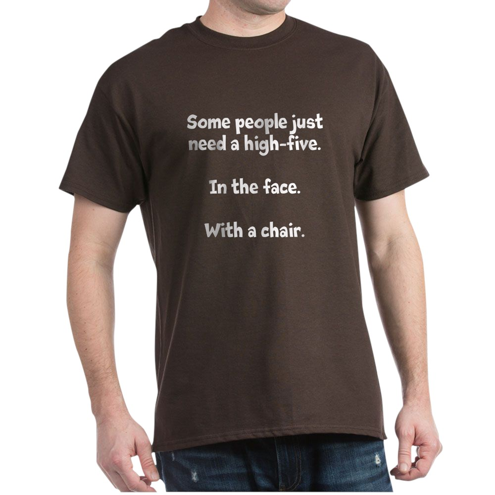 CafePress-High-Five-Chair-Dark-T-Shirt-100-Cotton-T-Shirt-581343550 Indexbild 13