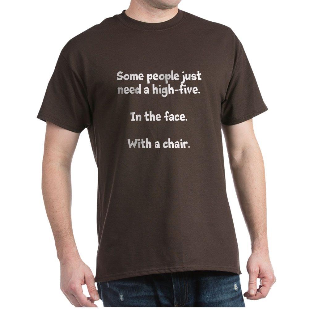 CafePress-High-Five-Chair-Dark-T-Shirt-100-Cotton-T-Shirt-581343550 Indexbild 10
