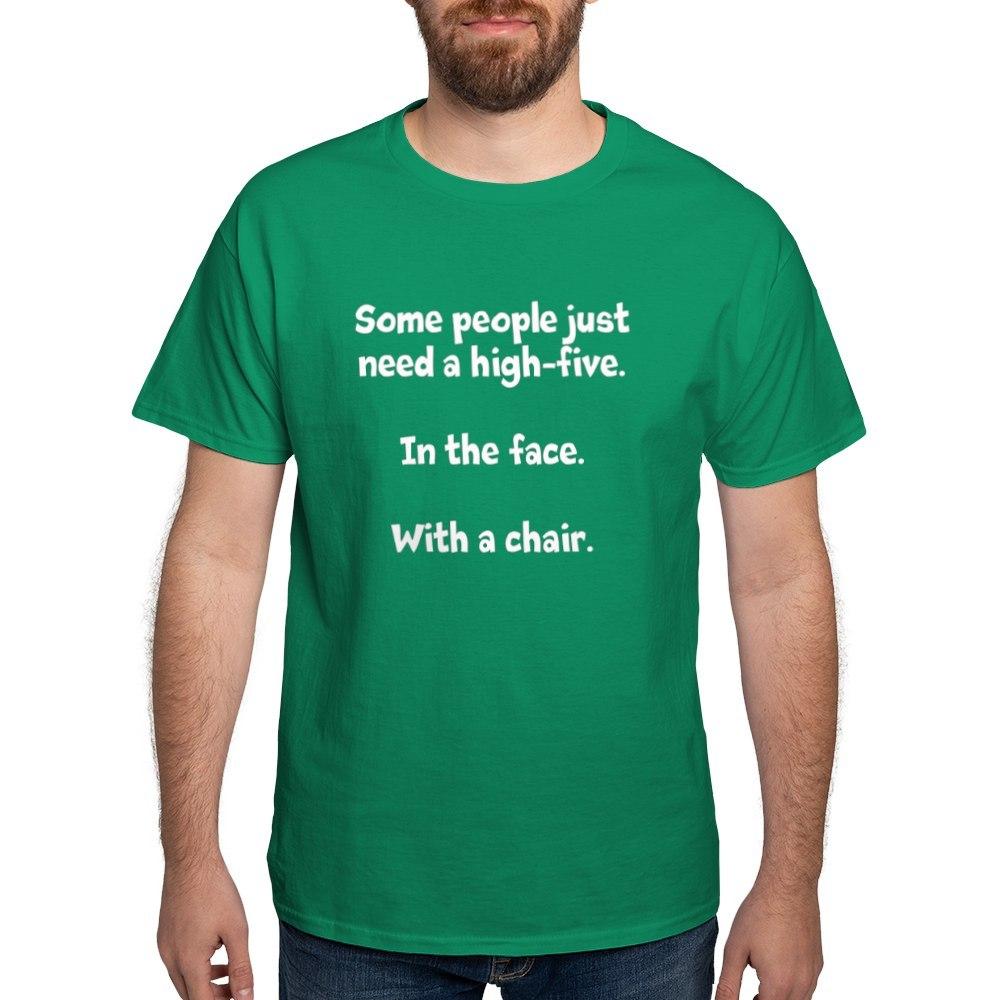 CafePress-High-Five-Chair-Dark-T-Shirt-100-Cotton-T-Shirt-581343550 Indexbild 27