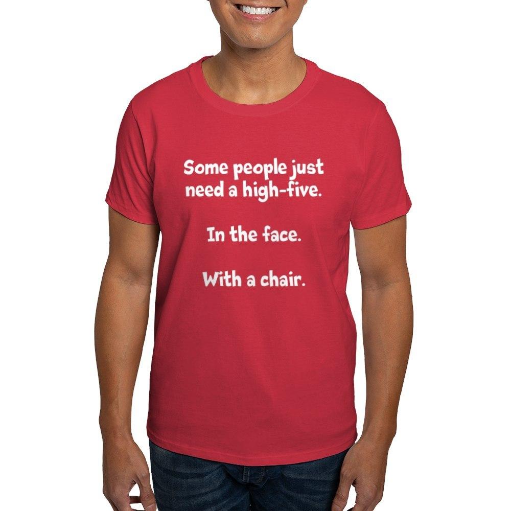 CafePress-High-Five-Chair-Dark-T-Shirt-100-Cotton-T-Shirt-581343550 Indexbild 47