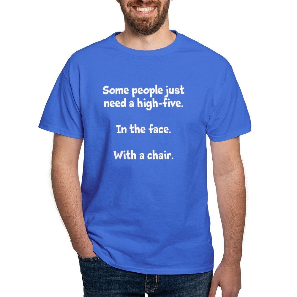 CafePress-High-Five-Chair-Dark-T-Shirt-100-Cotton-T-Shirt-581343550 Indexbild 55