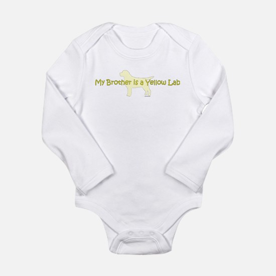My Brother is a Yellow Lab Long Sleeve Infant Body