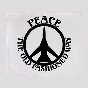 FB-111 Peace Plane Throw Blanket