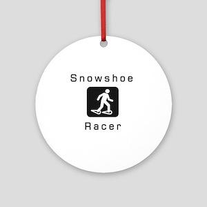 Snowshoe Racer Ornament (Round)