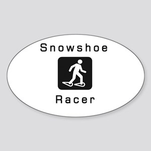 Snowshoe Racer Sticker (Oval)