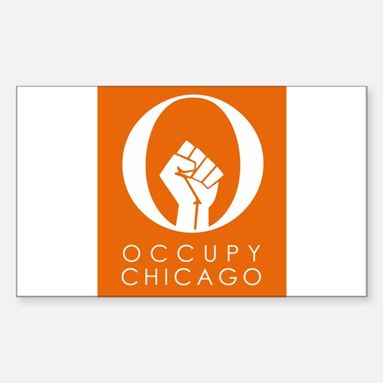 Occupy Chicago Sticker (Rectangle)