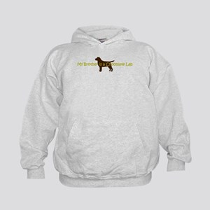 My Brother is a Chocolate Lab Kids Hoodie