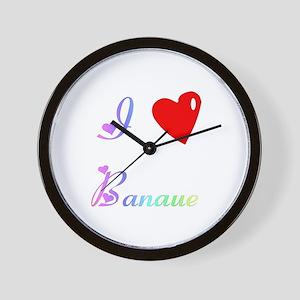 I Love Banaue Gifts Wall Clock