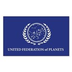 United Federation of Planets Sticker (Rectangle)