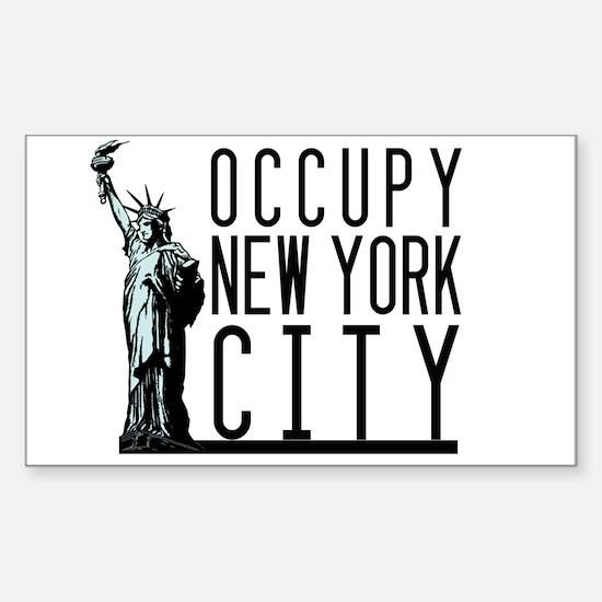 Occupy New York City Sticker (Rectangle)
