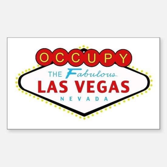 Occupy Las Vegas Sticker (Rectangle)