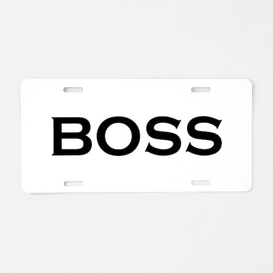 BOSS Aluminum License Plate