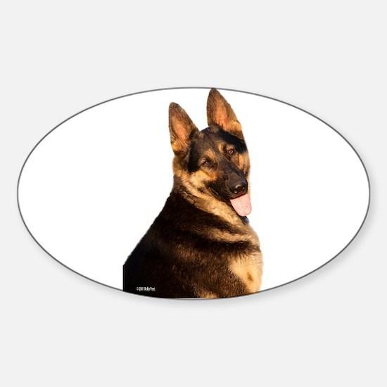 Cute German shepard Sticker (Oval)