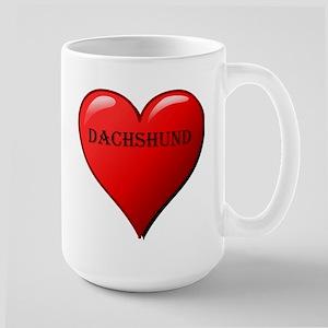 dachshund heart Mugs