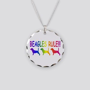 Beagles Necklace Circle Charm