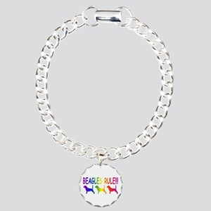 Beagles Charm Bracelet, One Charm