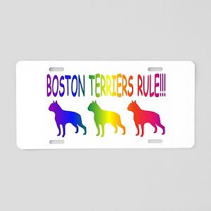 Boston Terriers Aluminum License Plate