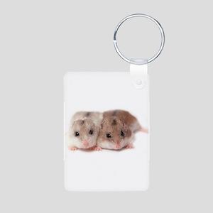Chinese Hamster Aluminum Photo Keychain