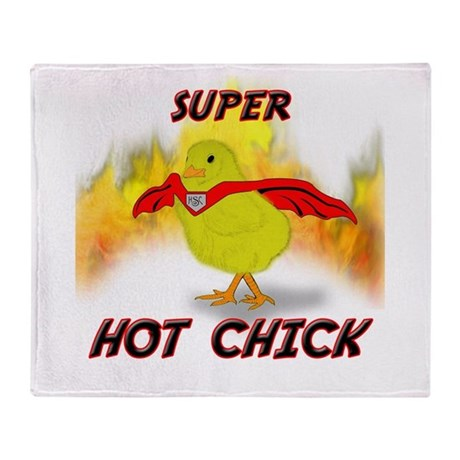 Super Hot Chick Throw Blanket