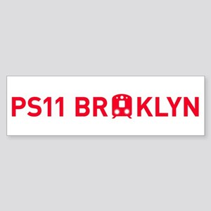 PS11 Subway Bumper Sticker