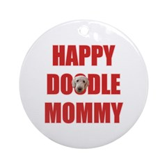 Labradoodle Mom Ornament (Round)