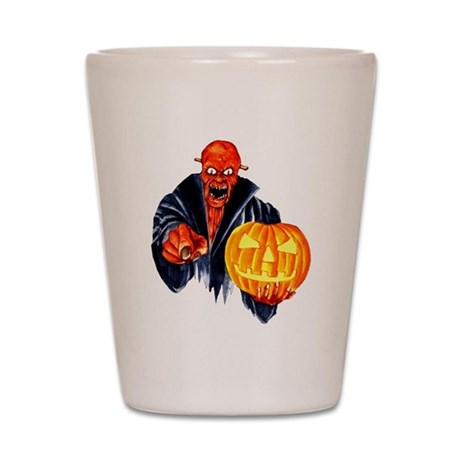 Trick or treat monster Shot Glass