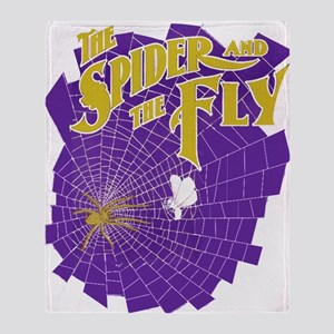 Halloween Spider & Fly Throw Blanket