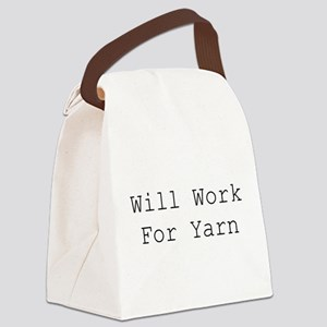 Will Work For Yarn Canvas Lunch Bag