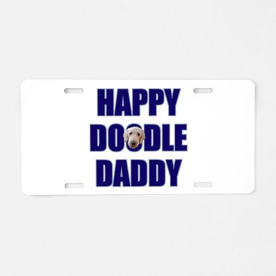 Goldendoodle Dad Aluminum License Plate