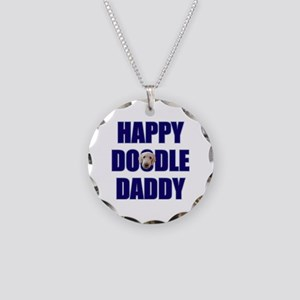 Goldendoodle Dad Necklace Circle Charm