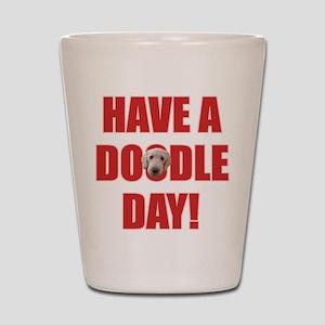 Doodle Day Goldendoodle Shot Glass