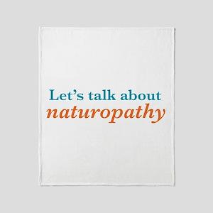 Talk Naturopathy Throw Blanket