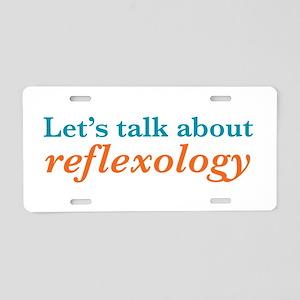 Talk Reflexology Aluminum License Plate