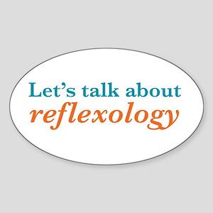 Talk Reflexology Sticker (Oval)