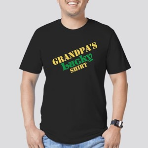Grandpa's Lucky Shirt Men's Fitted T-Shirt (dark)