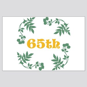 65th Birthday or Anniversary Large Poster