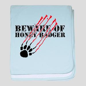 Beware of honey badger baby blanket