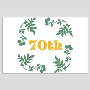 70th Birthday or Anniversary Large Poster