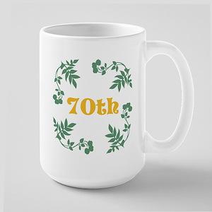 70th Birthday or Anniversary Large Mug