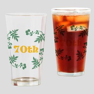 70th Birthday or Anniversary Drinking Glass