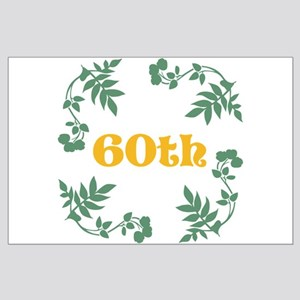 60th Birthday or Anniversary Large Poster