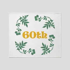 60th Birthday or Anniversary Throw Blanket