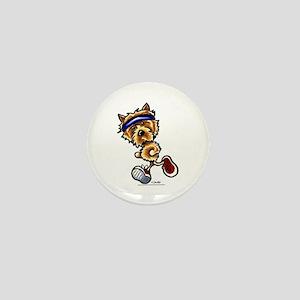 Norwich Terrier Running Mini Button