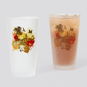 Peace Abstract Art Drinking Glass