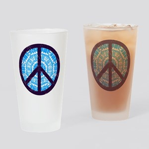 Tie-dye Peace Sign Drinking Glass