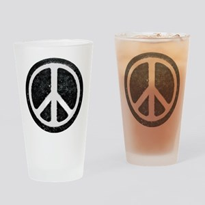 Original Vintage Peace Sign Drinking Glass