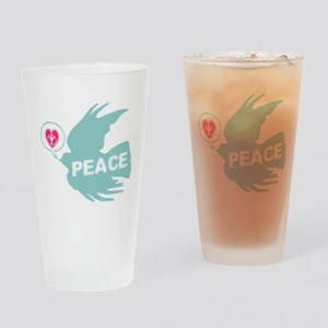 Peace Dove Anti war Drinking Glass